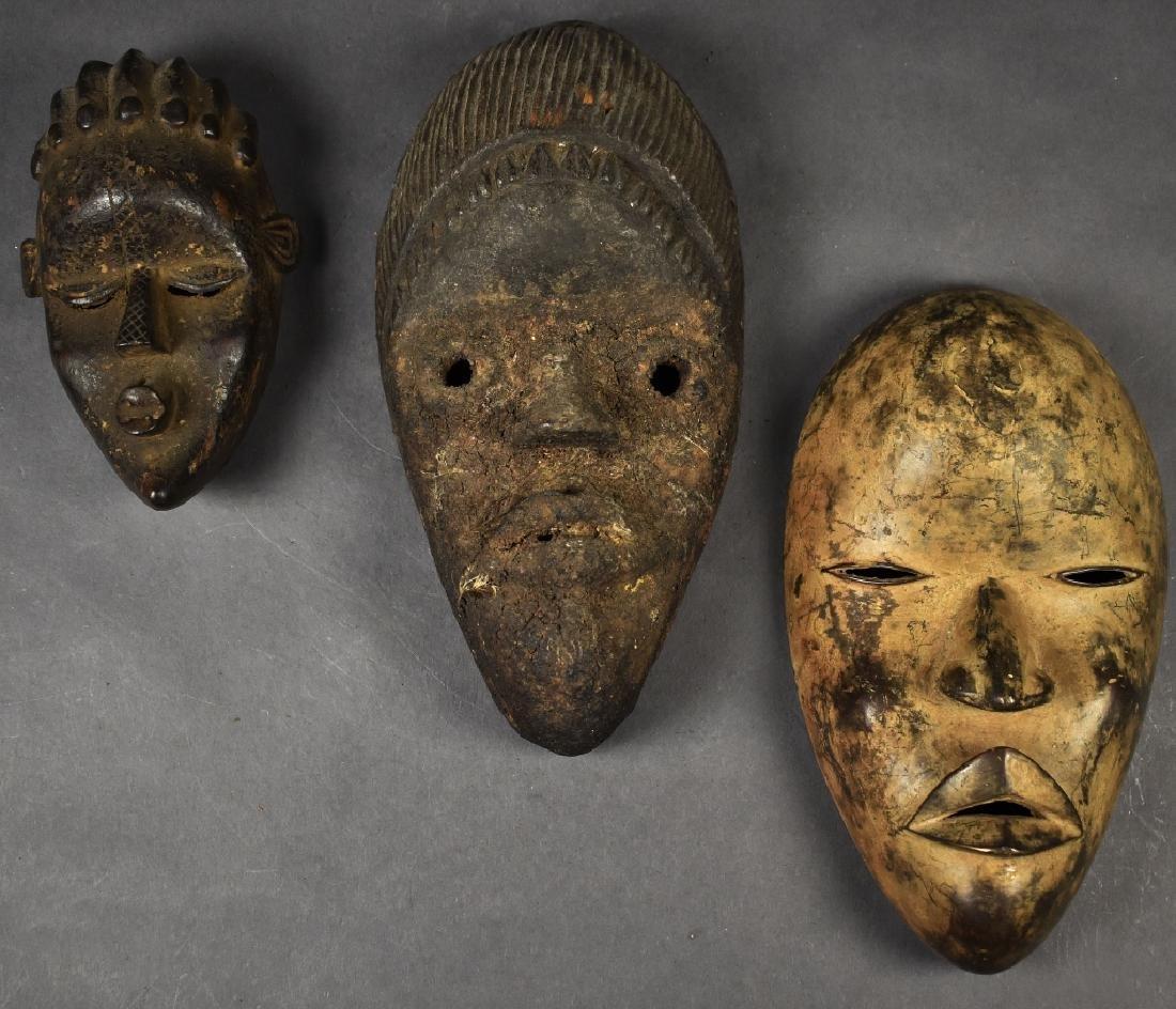 Three Dan Masks (one metal)