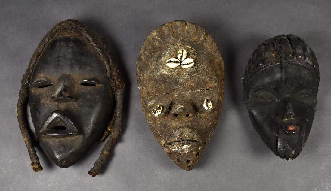 Three Baule Masks