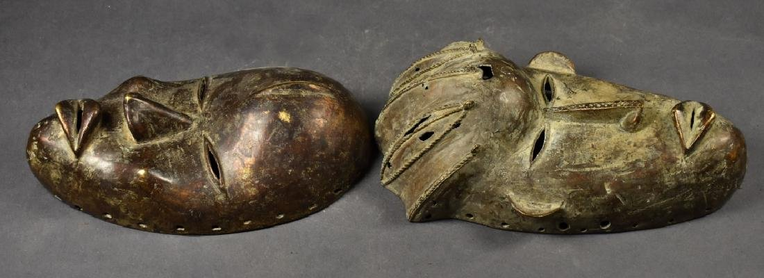 Two Baule Bronze Masks - 2