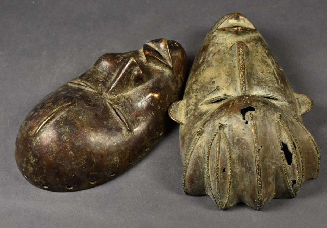 Two Baule Bronze Masks - 3