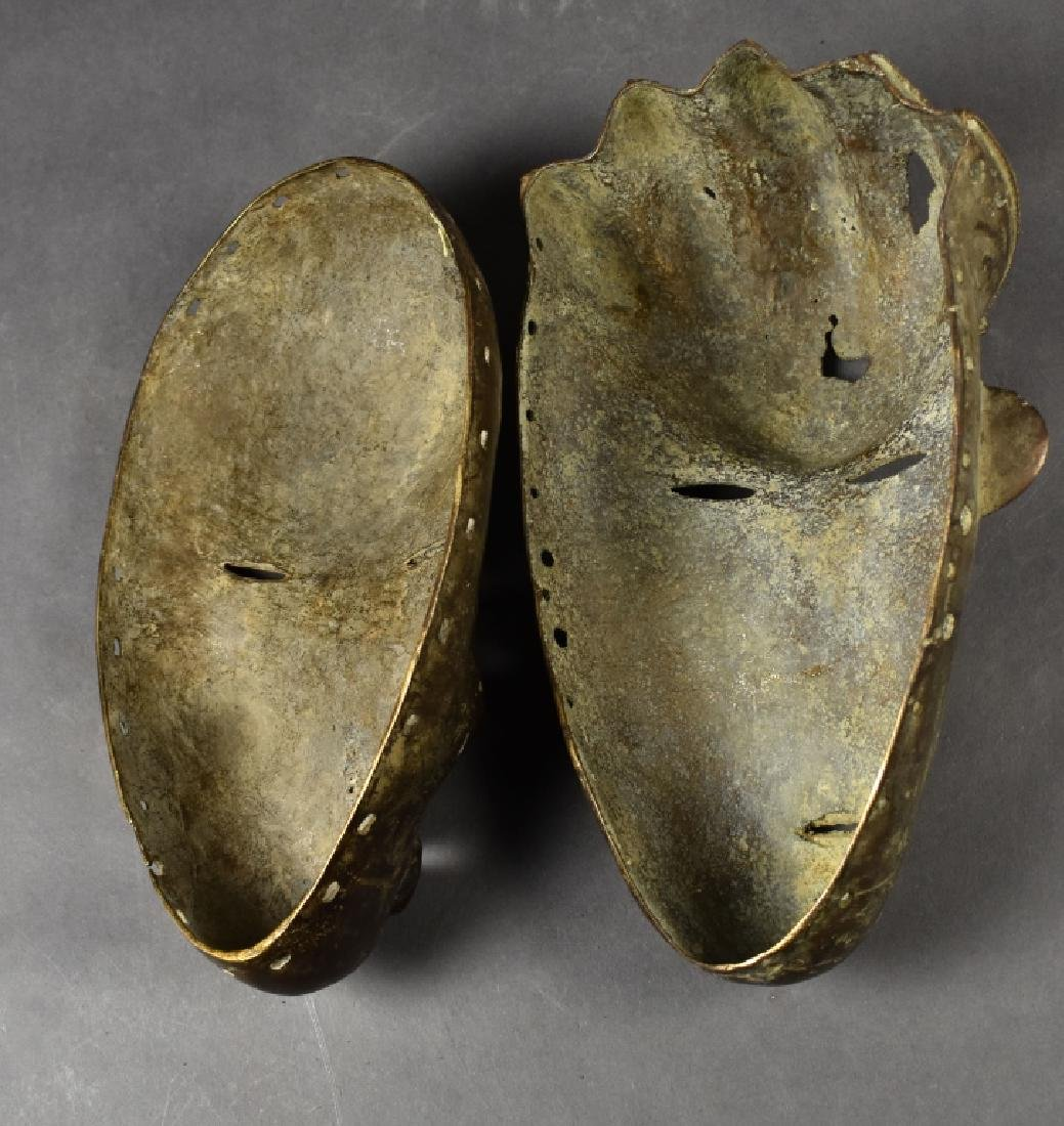 Two Baule Bronze Masks - 4