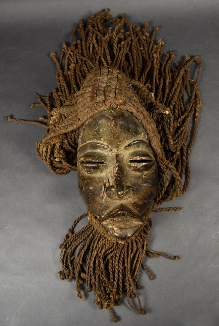 """""""We"""" Tribal Mask with Hair"""