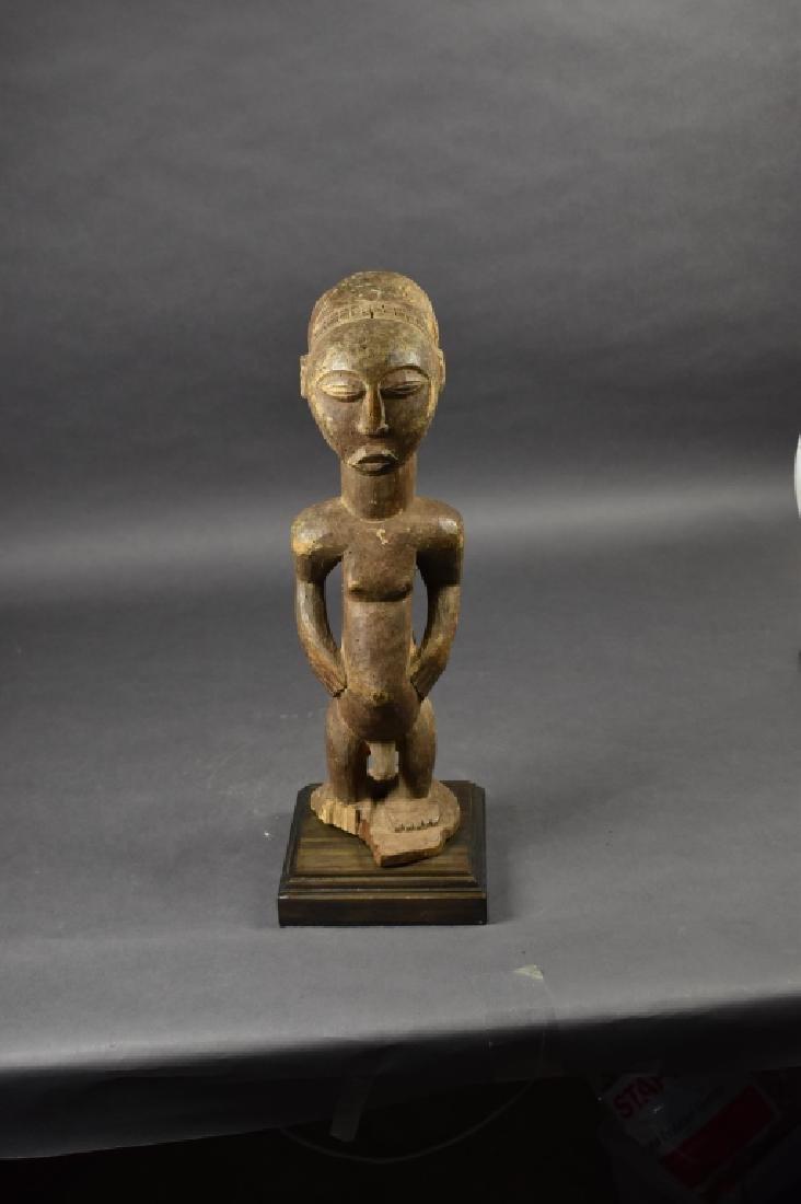Hemba Male Figure on Wooden Base