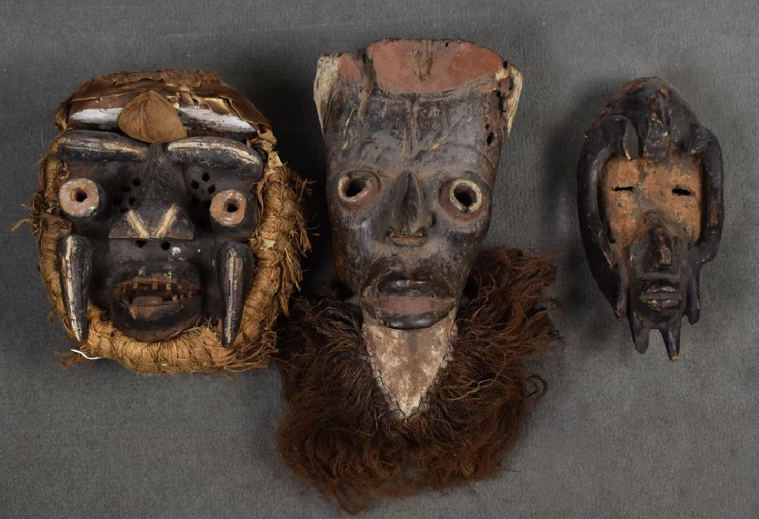 3 Miscellaneous African Masks