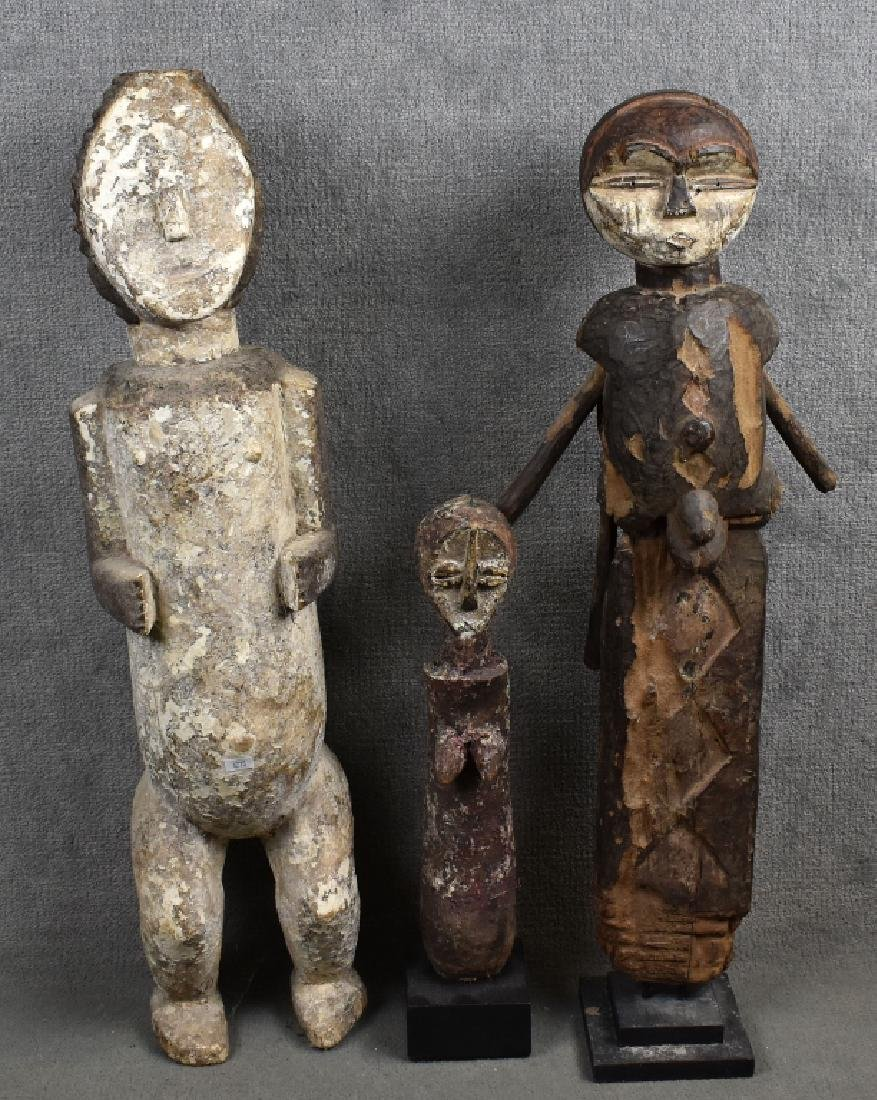 3 Assorted African Figures
