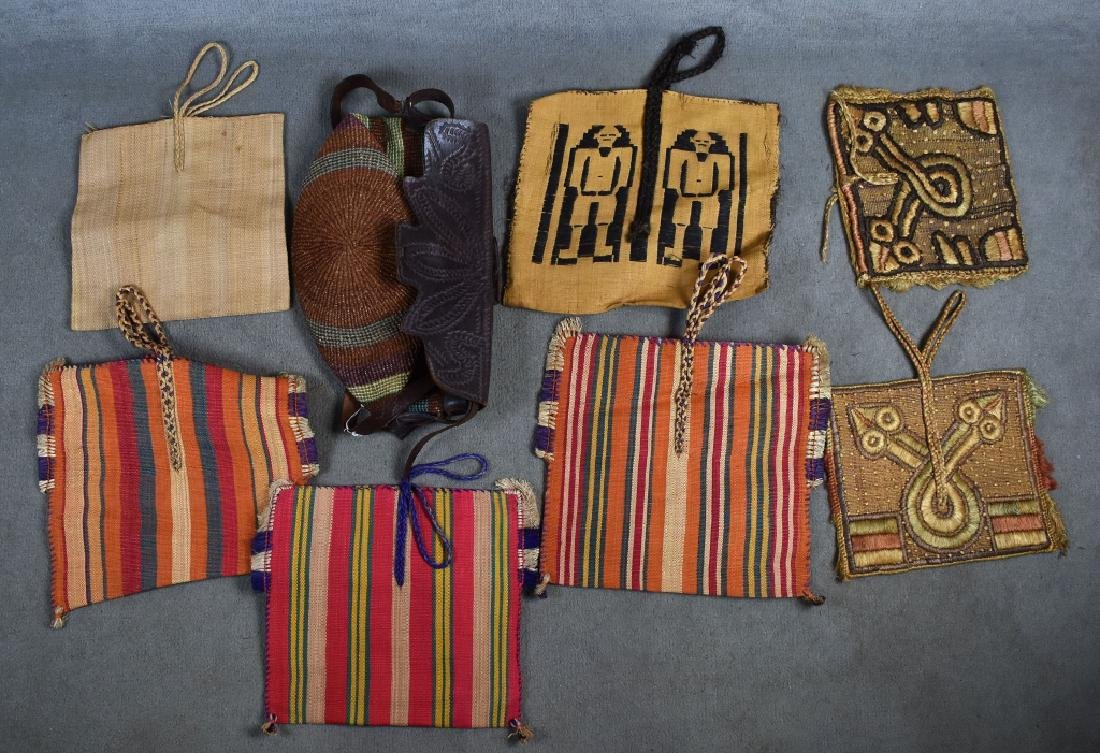 8 African Woven Straw Bags