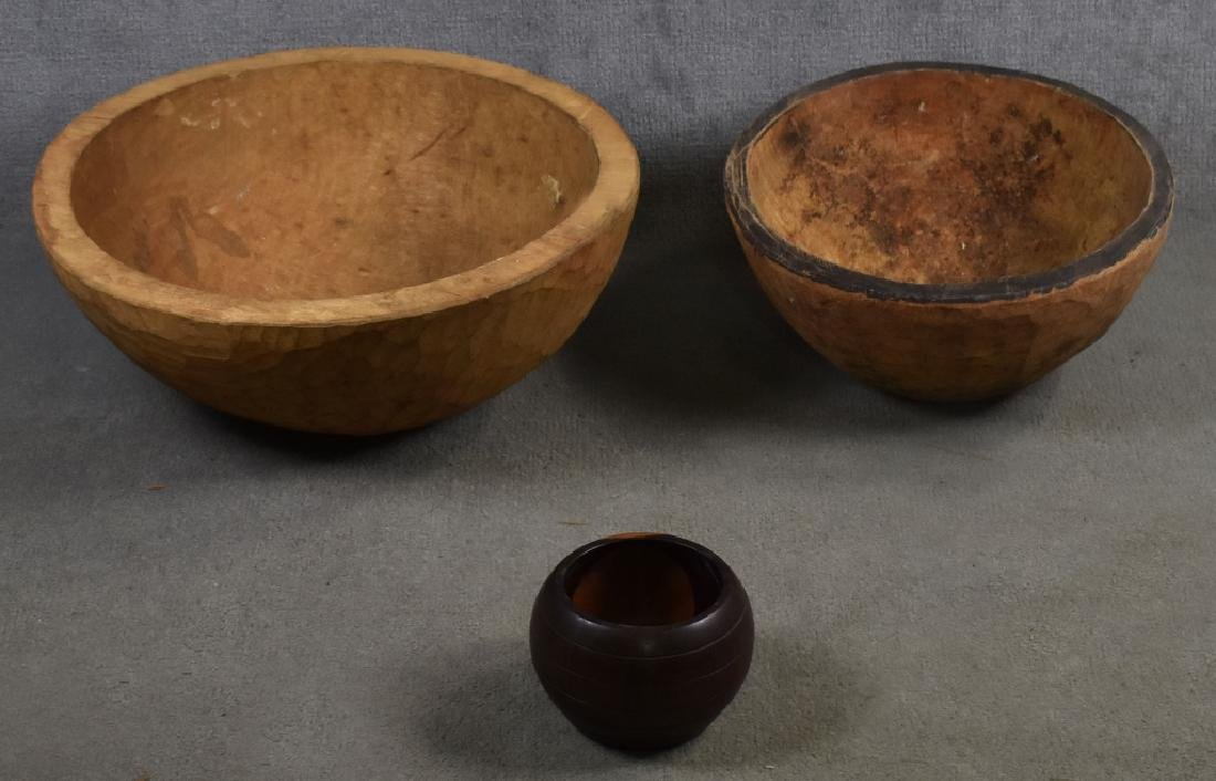 3 African Wooden Bowls