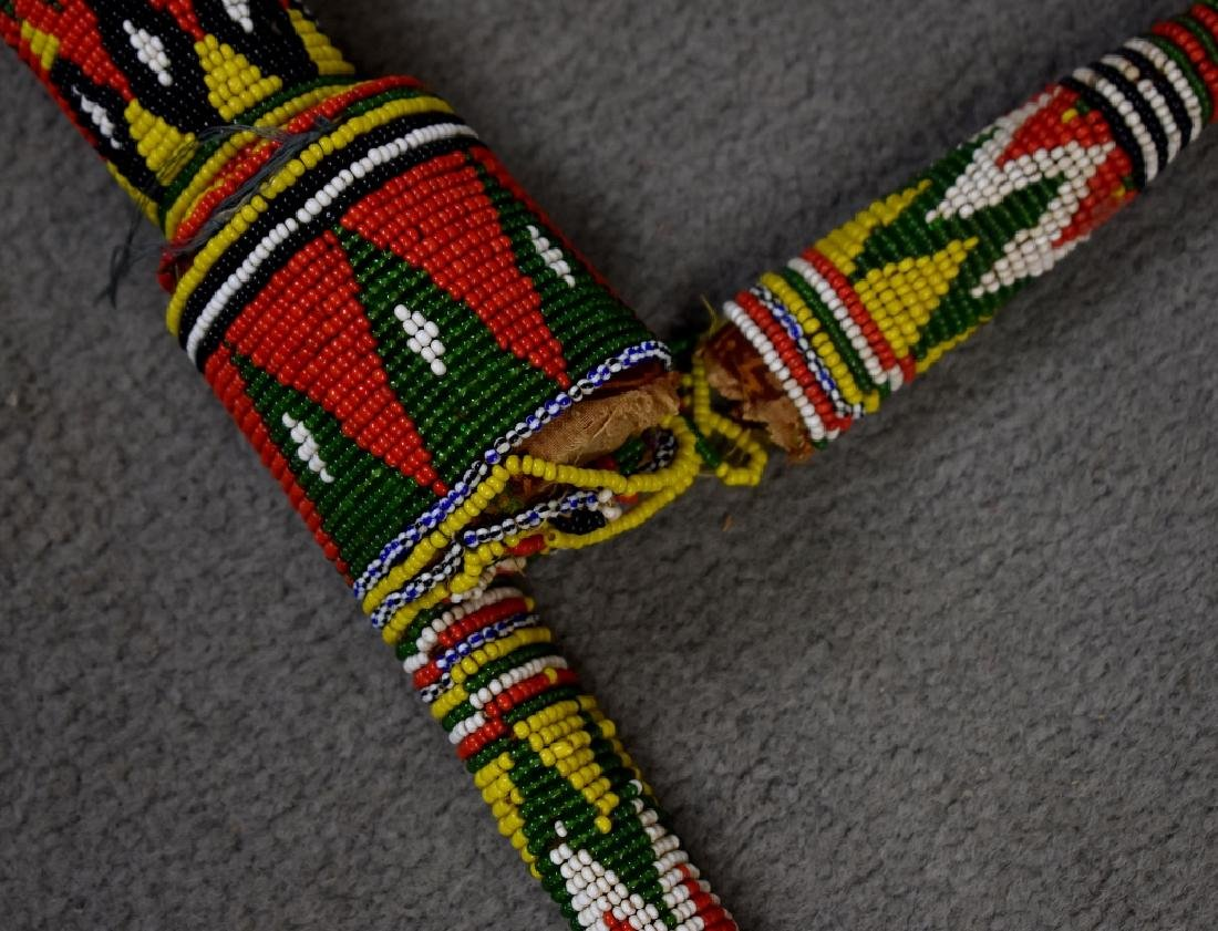 Beaded African Fly Whisk - 2