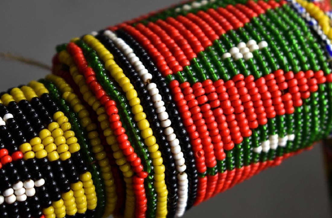 Beaded African Fly Whisk - 4
