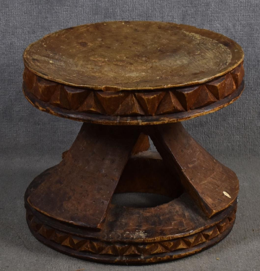 Carved Wood African Stool