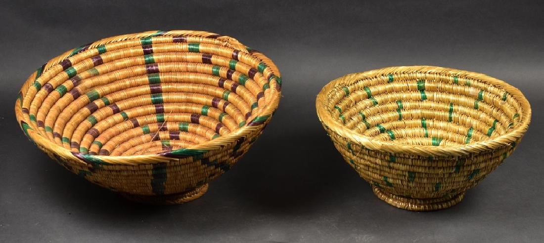 Two Footed Straw Bowls