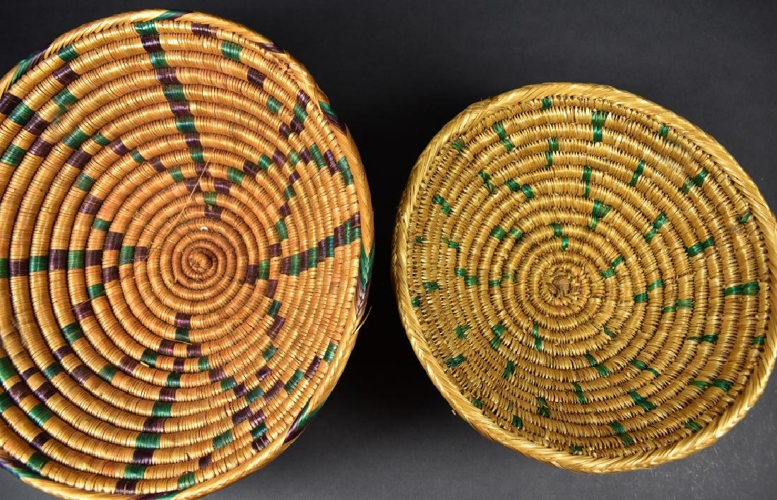Two Footed Straw Bowls - 2