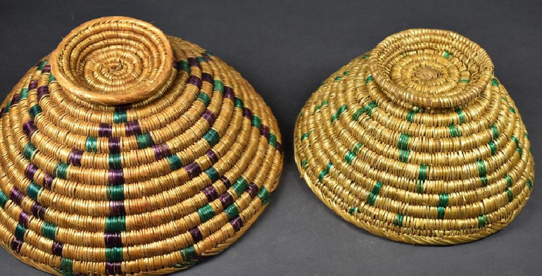 Two Footed Straw Bowls - 3