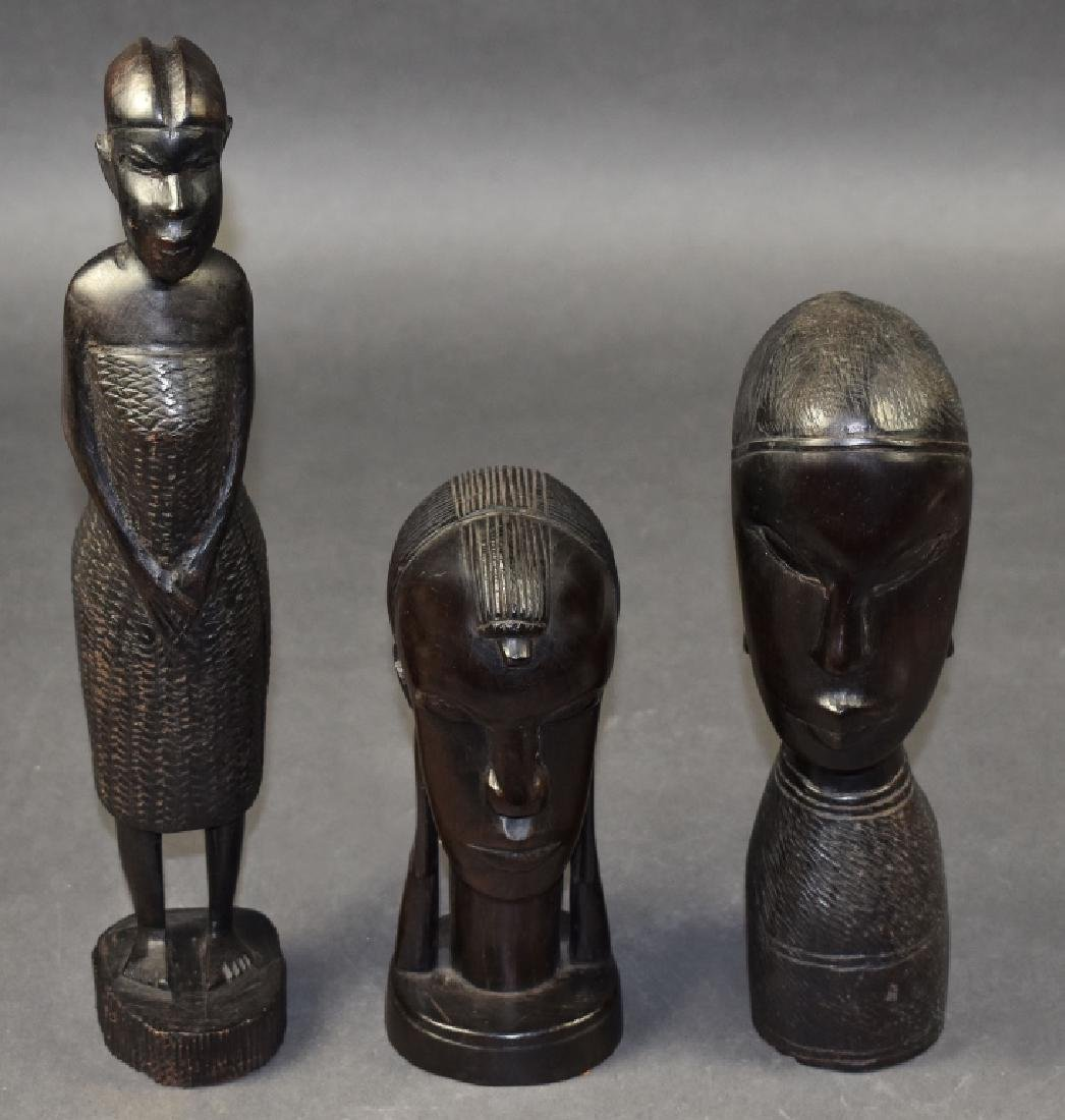 Three Carved Ironwood Figures