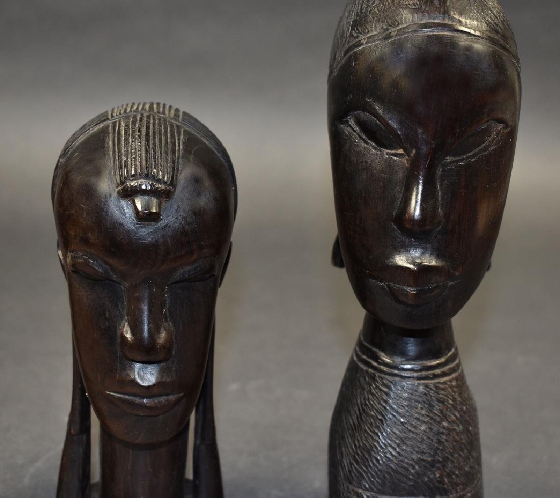Three Carved Ironwood Figures - 2