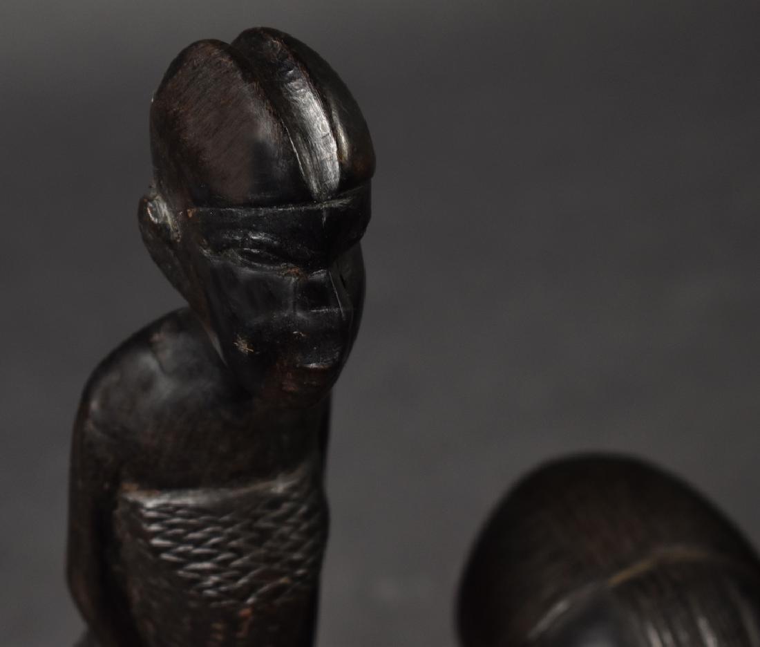 Three Carved Ironwood Figures - 3
