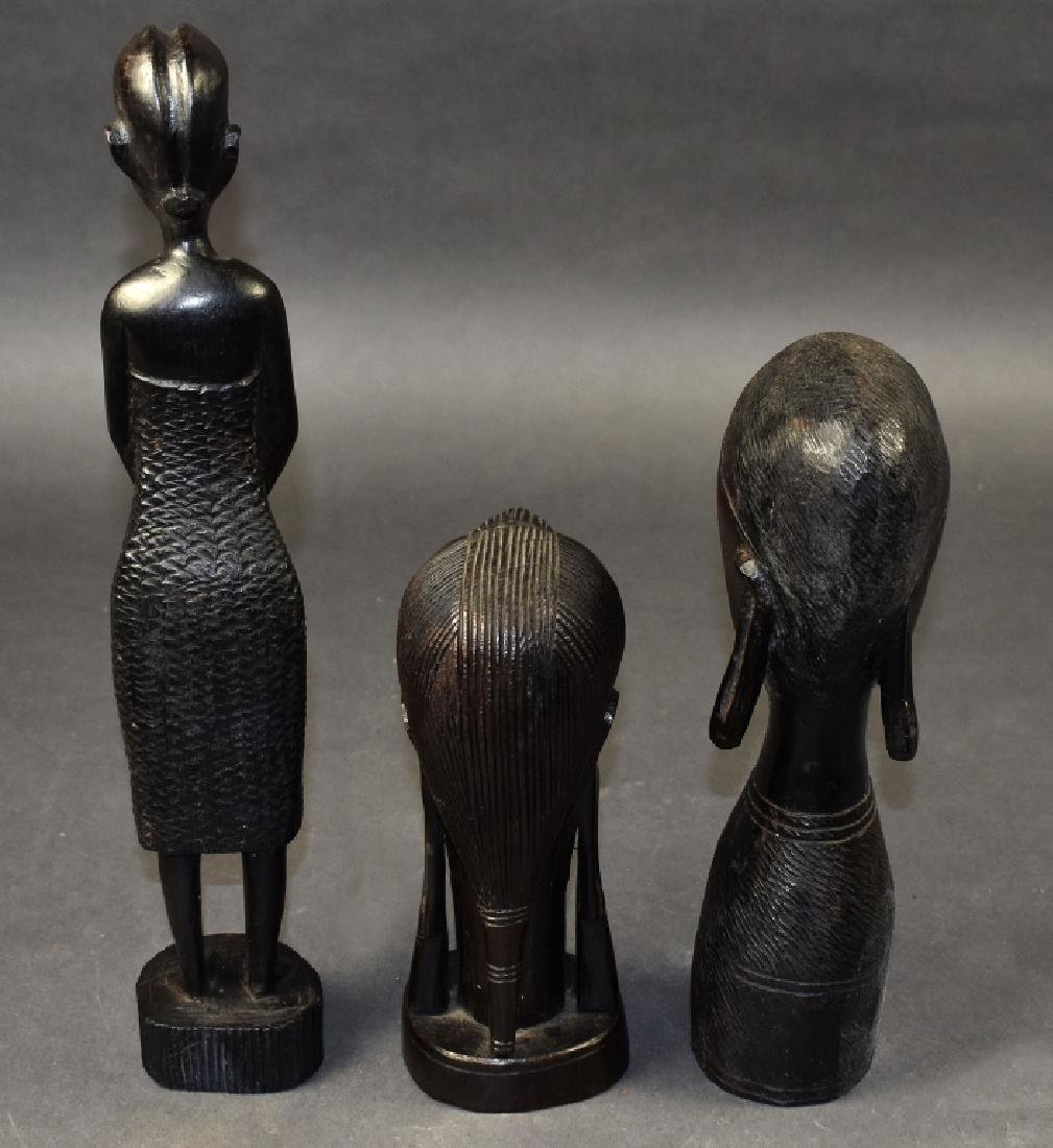 Three Carved Ironwood Figures - 4