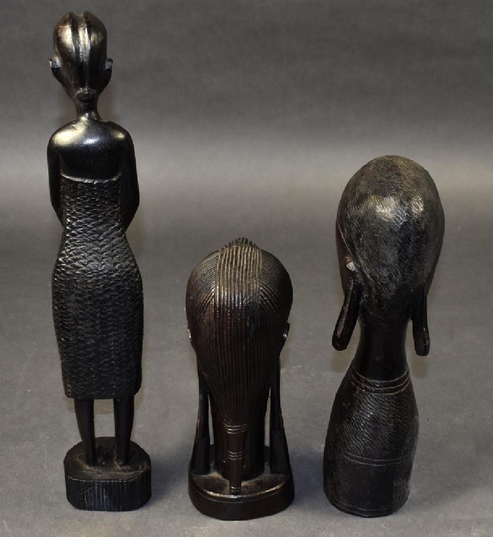 Three Carved Ironwood Figures - 4