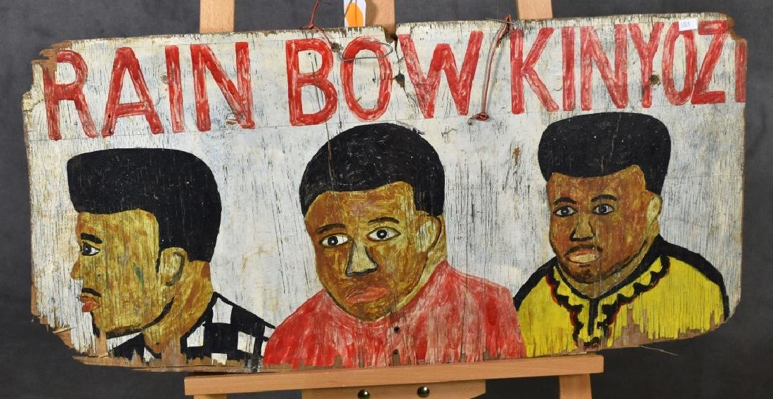 Folky African Barber Shop Sign (Two-Sided)