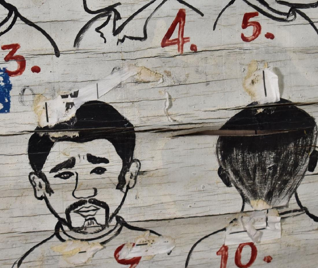 Folky African Barber Shop Sign - 4