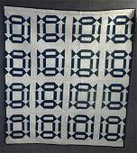 Early 20th Century Churn Dasher Appliqué Quilt