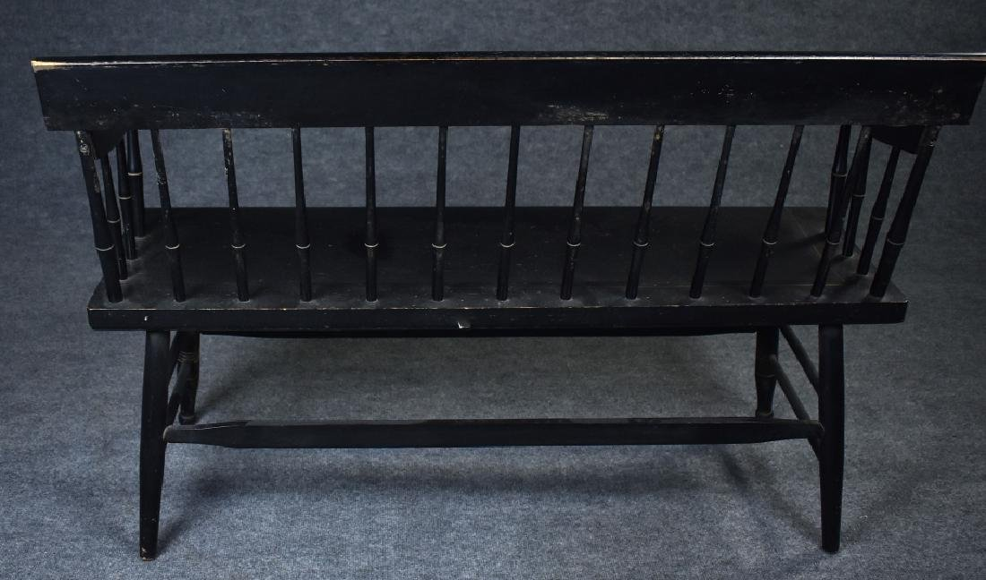 Hitchcock-Style Plank Seat Bench - 2