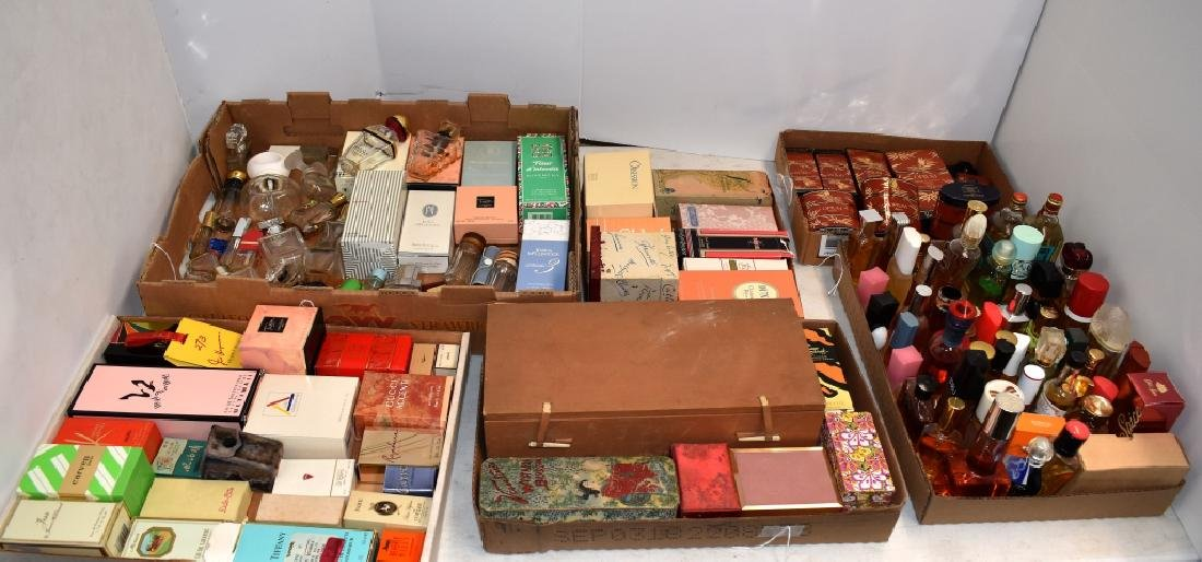 100 plus Collection of Perfumes, Bottles and Boxes