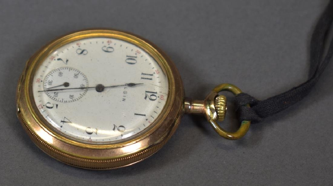 Elgin Pocket Watch, Gold Plate