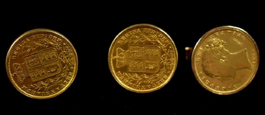 Four Coin Cufflinks - Victoria