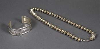 Navajo Necklace and Bracelet