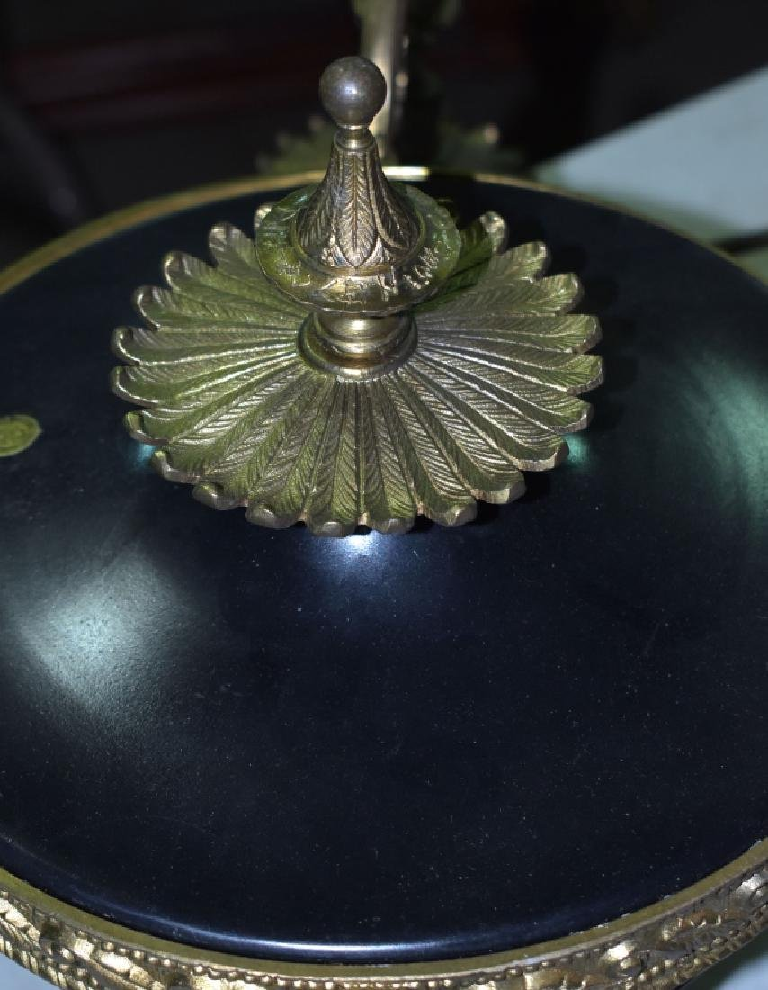 Brass Chandelier with Tiffany Paper Label - 3