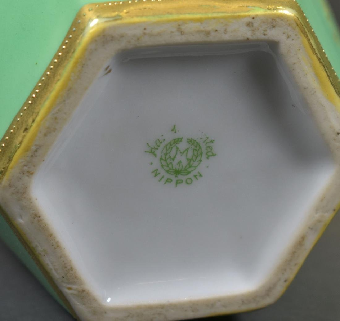 Pair of Handpainted Nippon Vases - 4