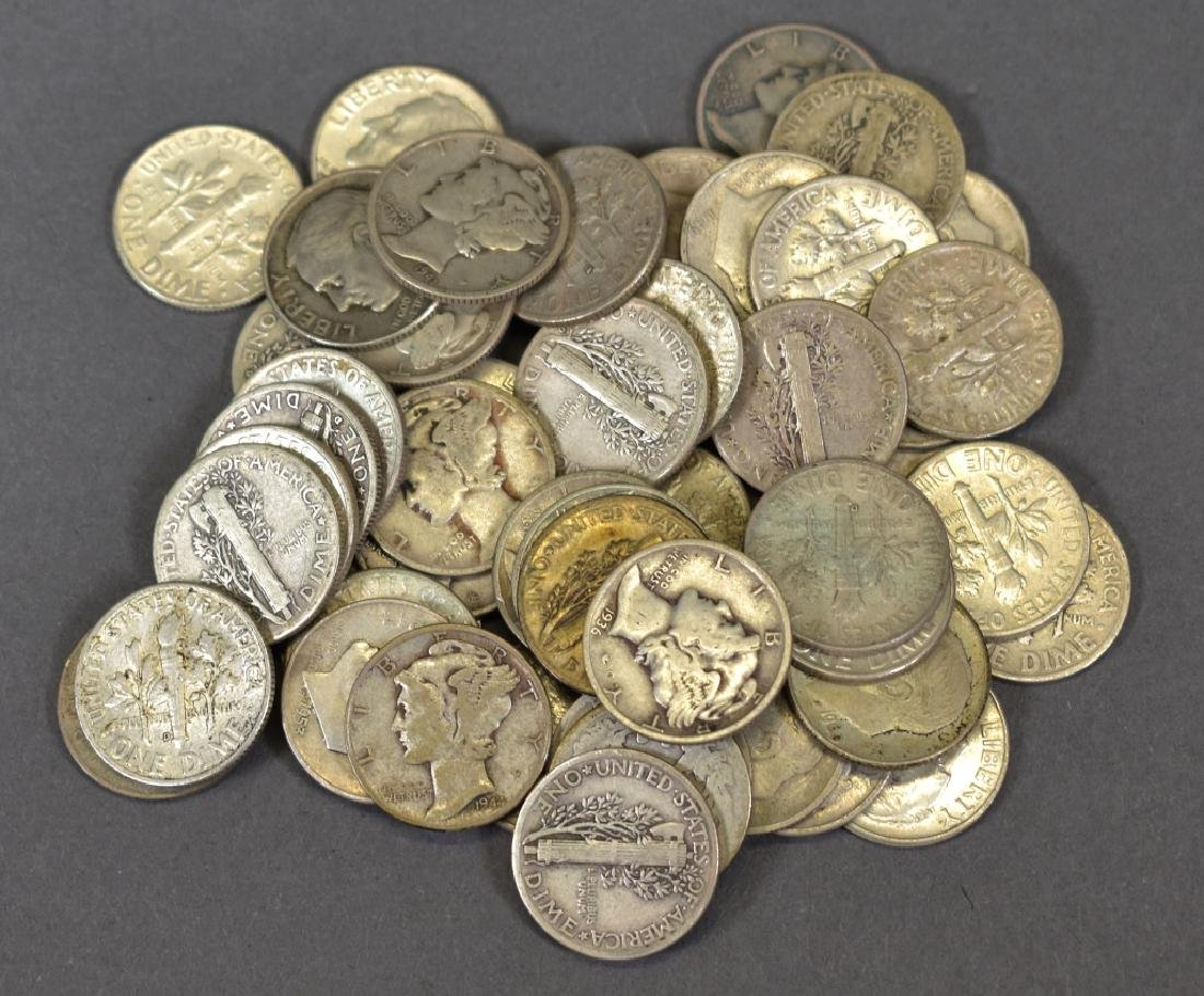 Group of Circulated Silver Dimes