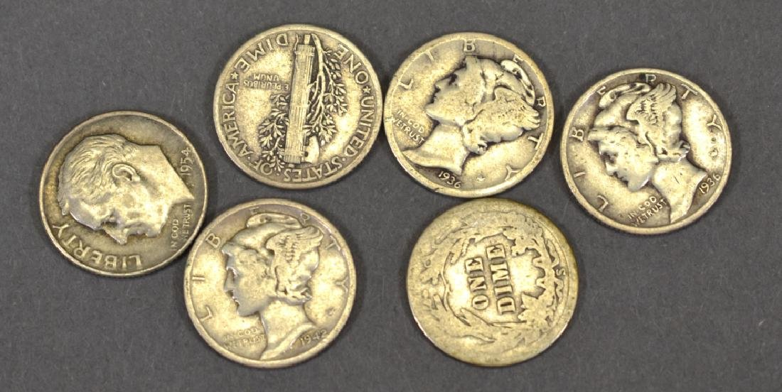 Group of Circulated Silver Dimes - 2