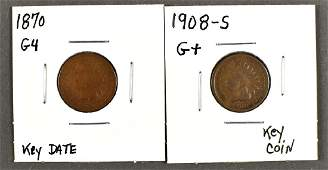 Two Key Date Indian Cents