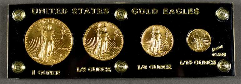 4-Coin Gold Eagle Set Dated 1990