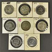 Group of 8 Commemorative Half Dollar Coins