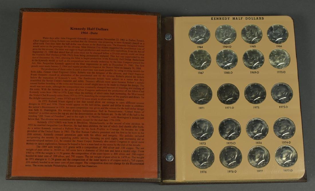 Kennedy Half Dollar Collection Housed in Dansco album.