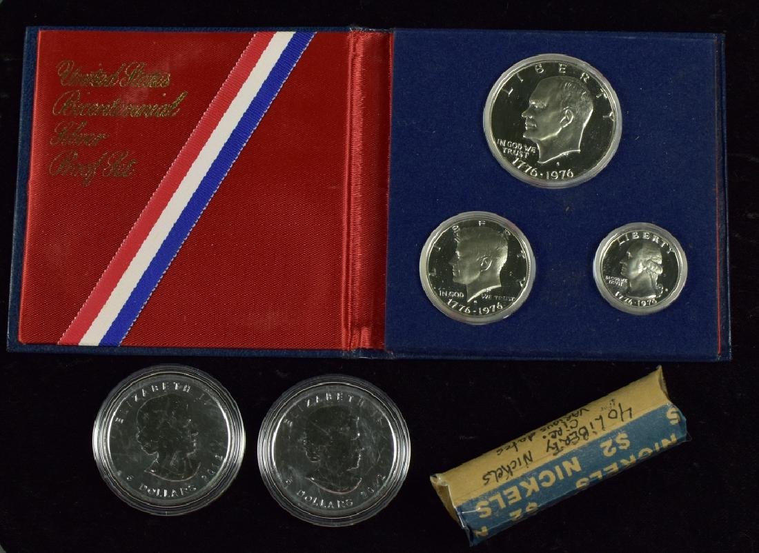 Two 2012 Canadian 1 oz. Silver Coins With moose on
