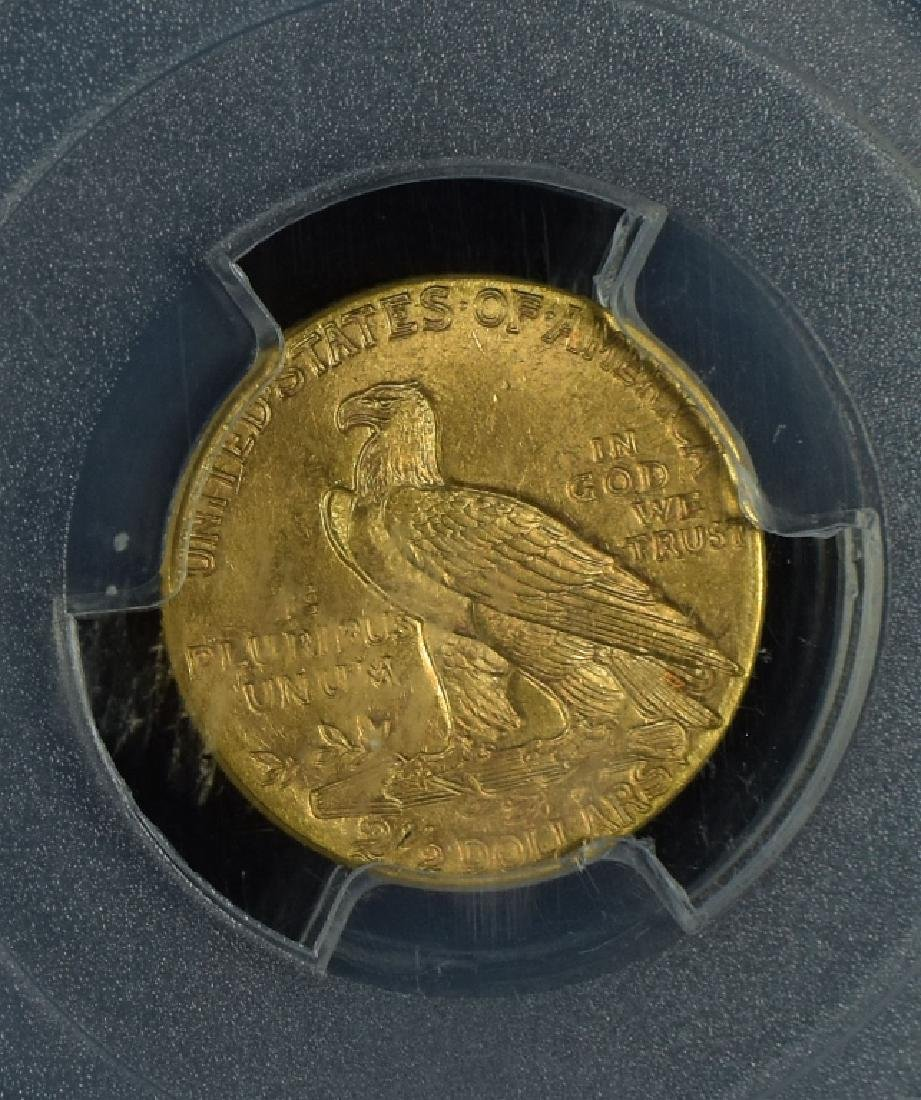 1914 Indian $2 1/2 Gold Coin Graded MS 65 PCGS. - 3