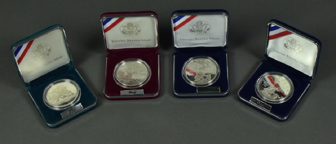 Four Proof Commemorative Silver Dollars Includes 2005