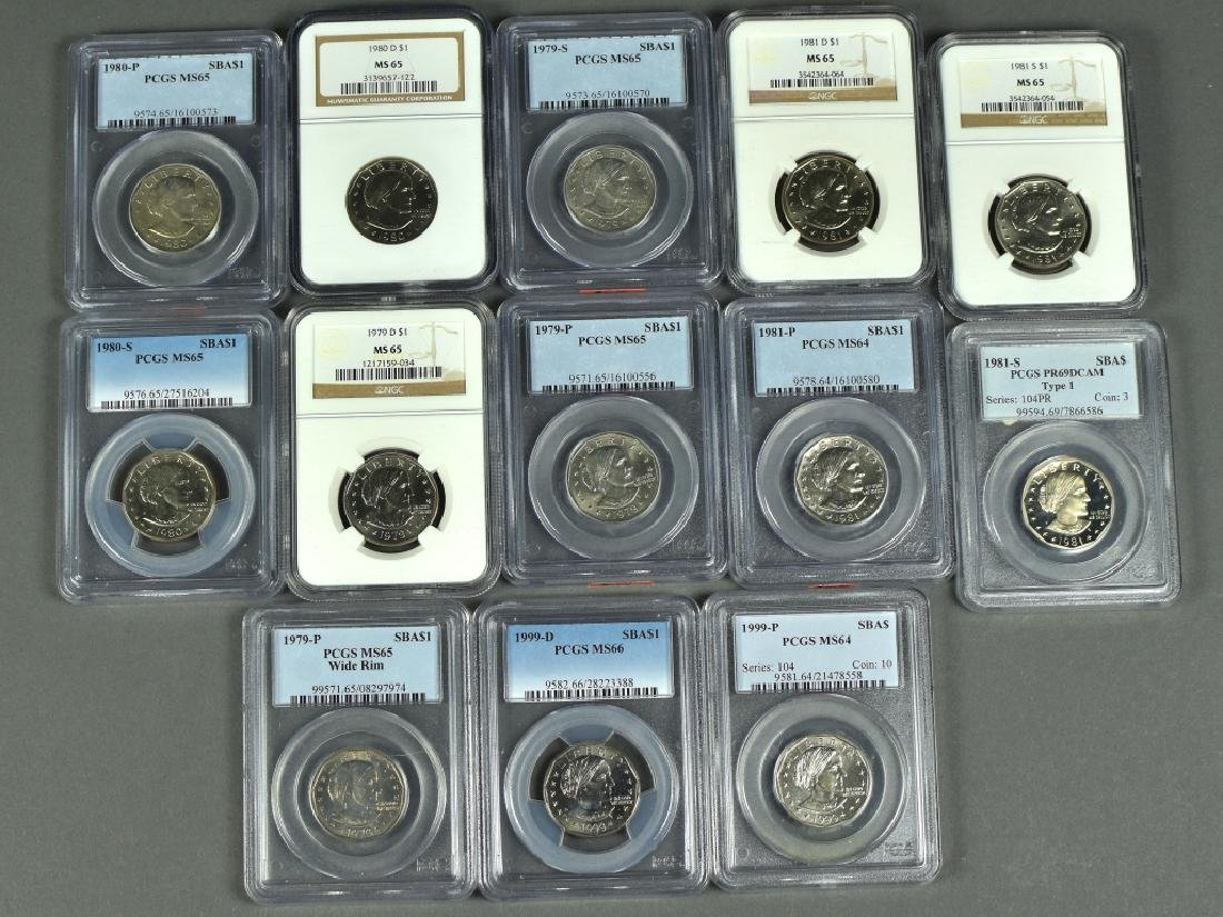 Set of Susan B. Anthony Dollars 1979-1999. Includes