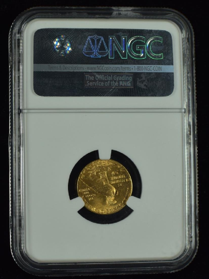 1914-D Indian $2 1/2 Gold Coin Graded MS 65 by NGC. - 2