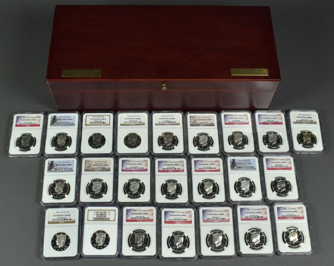 1992S to 2014S Silver Kennedy Half Dollar Proofs All