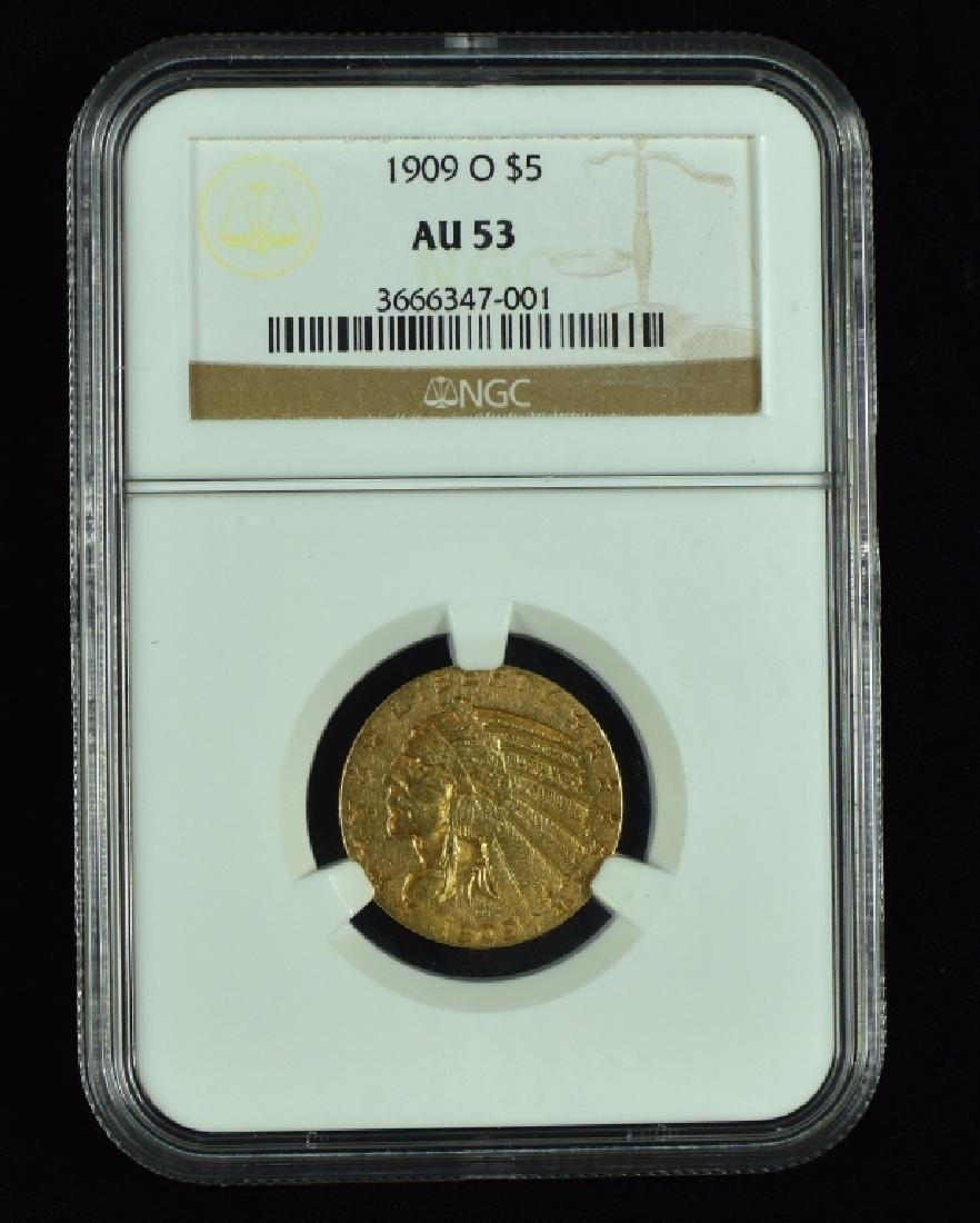 1909-O Indian $5 Gold Coin This is the KEY coin in this
