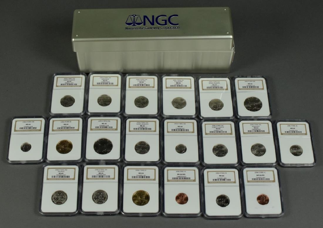 2006 P and D Uncirculated Set All NGC MS66. 20 coins