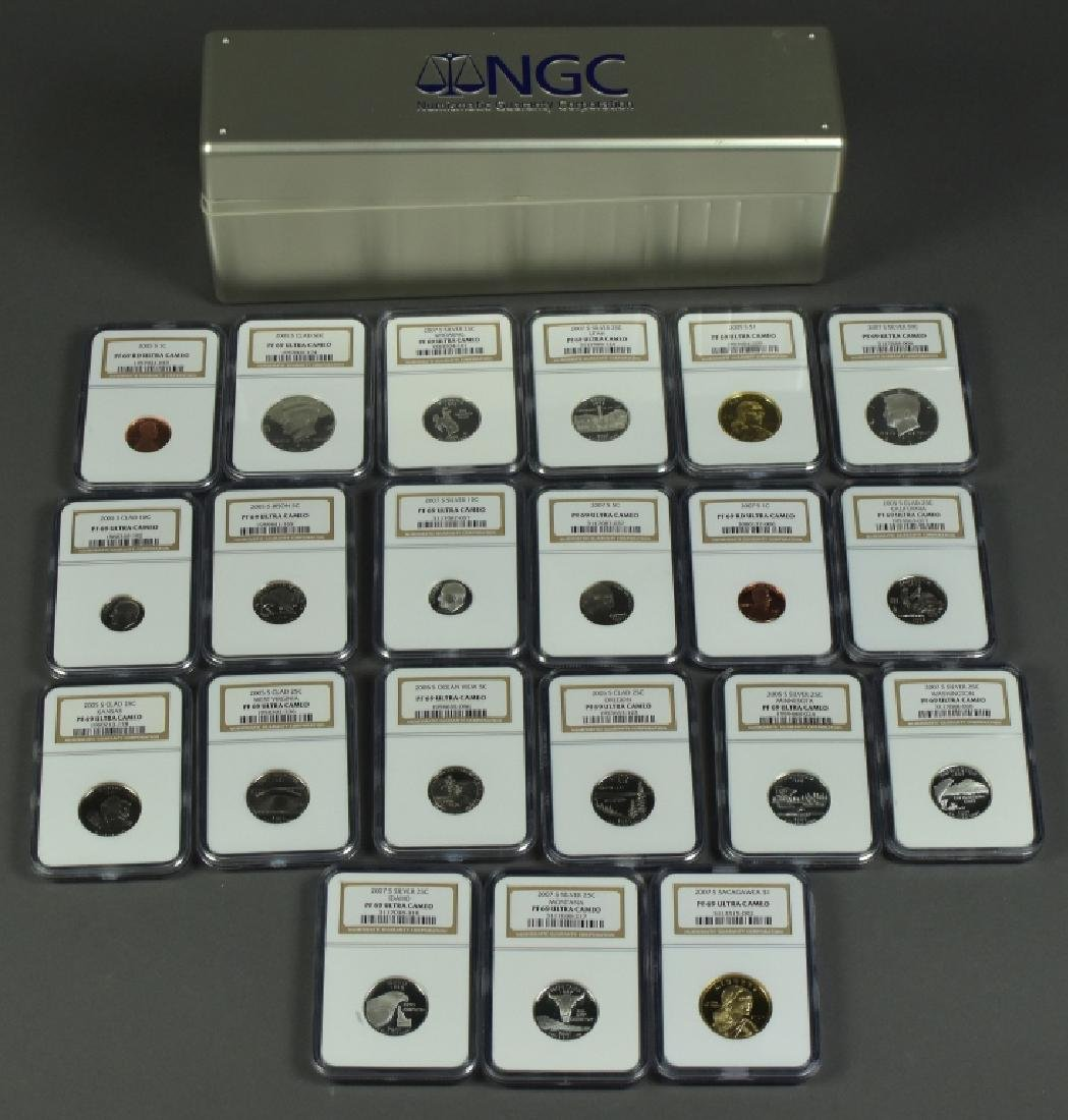 2005S Clad Proof Set NGC PF69 Ultra Cameo and 2007S