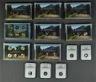 8 Westward Journey Nickel Proof Sets Three 2005 and