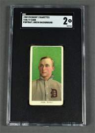 T206 Ty Cobb Cigarette Card Green portrait with