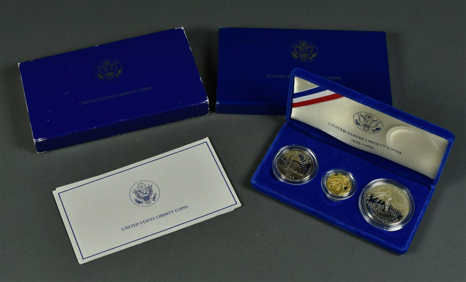 1986 Three-Coin Liberty Comm. Coin Set